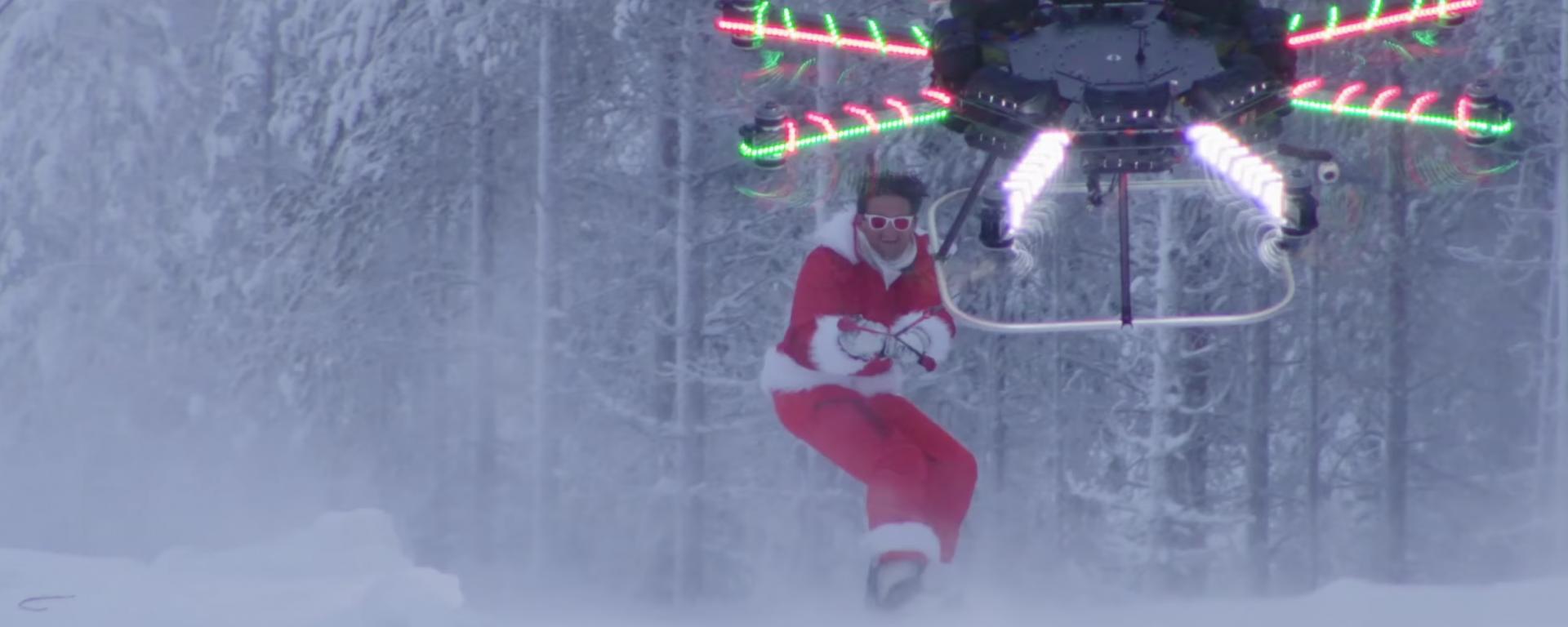 Du FPV racing en snowboard ? Peut-être pas ;)