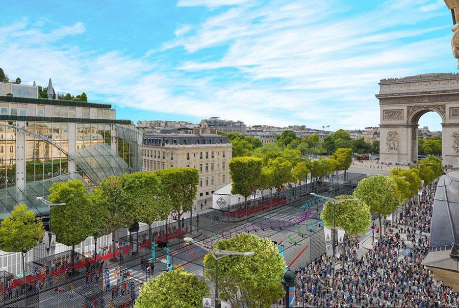 course-drone-champs-elysées-paris